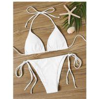 Triangle tie side tanga bikini swimsuit m