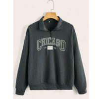 Letter graphic half-zip pullover s