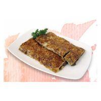 Pan-fried dried tofu skin wrapped w/ chinese mushrooms (c)