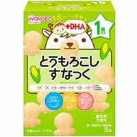 Wakodo snacks for ages 1+ sweet corn puffs (3 bags x 4g)