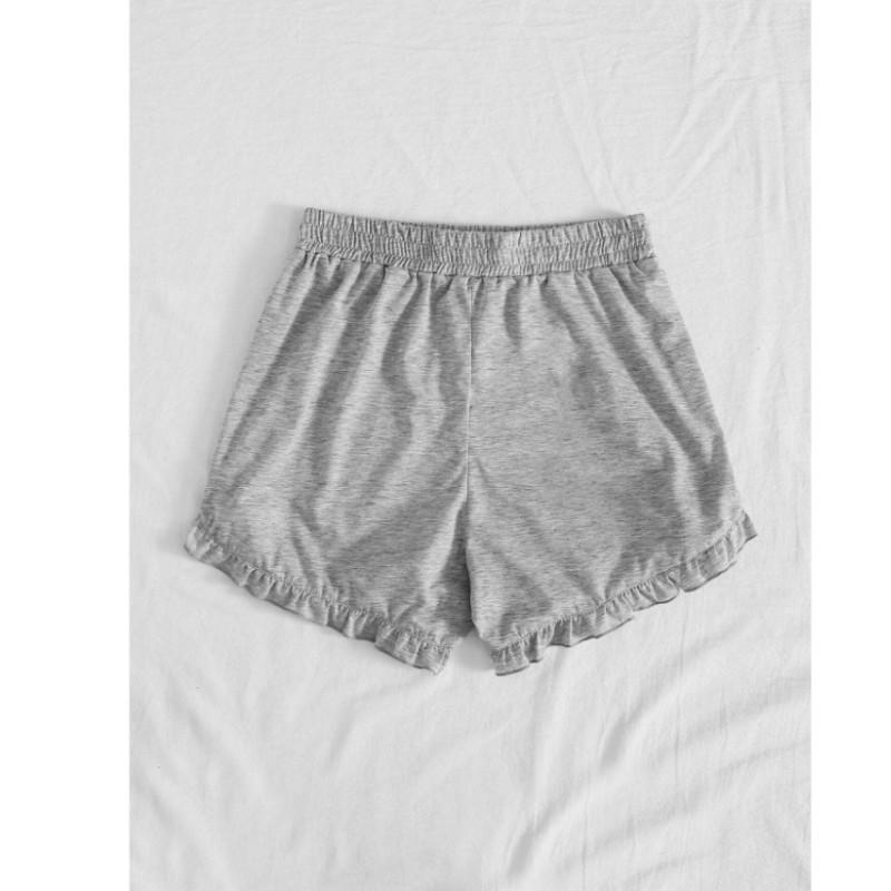 Tie front frill hem track shorts xs