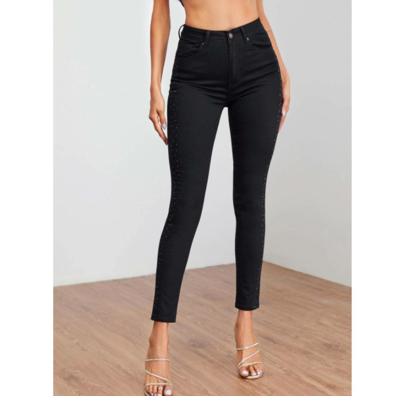 Rhinestone detail skinny jeans s