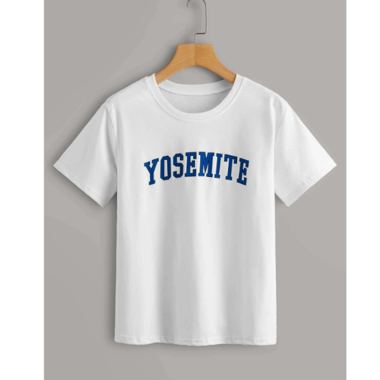 Letter graphic white tee s