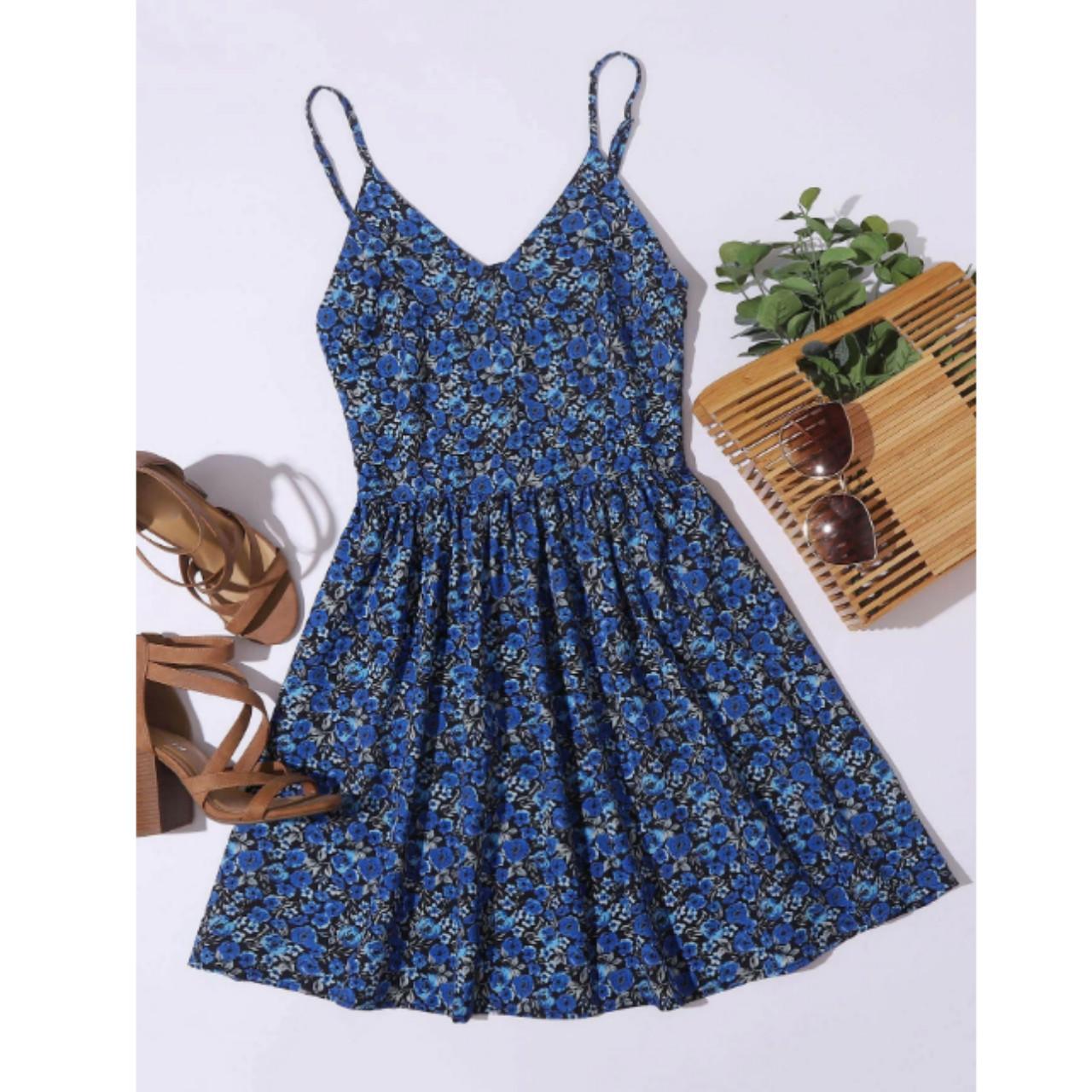 Allover floral cami dress m