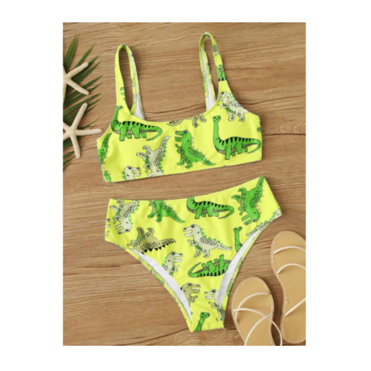 Cartoon dinosaur bikini swimsuit m