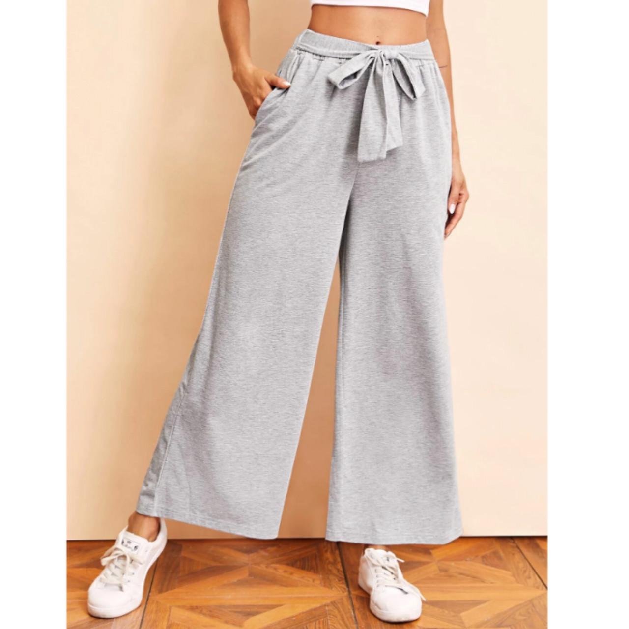 Tie waist wide leg pants m