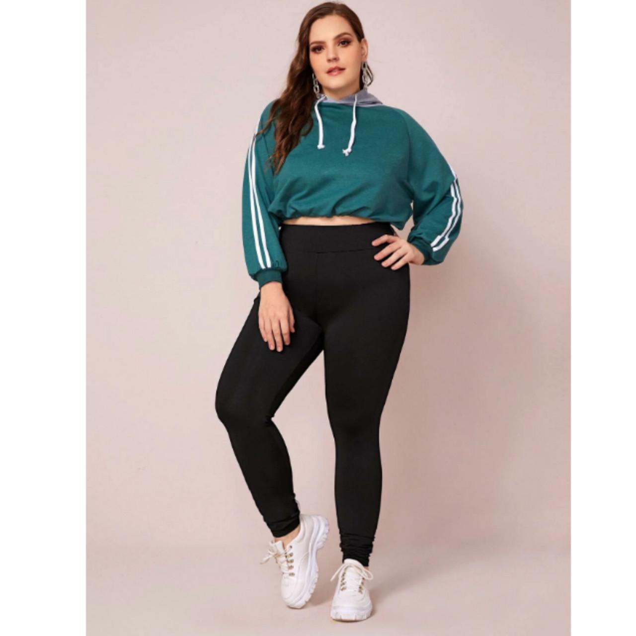 Plus slogan wide waistband leggings 0xl