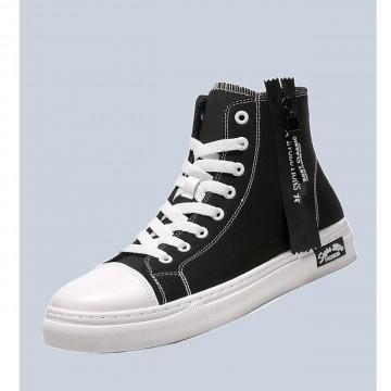 Men letter tape decor lace-up front sneakers eur43