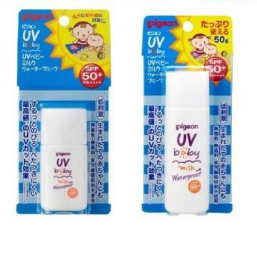 Pigeon uv baby milk waterproof spf50+
