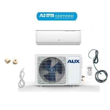 Aux 12000 btu ductless air conditioner heat pump j-smart mini split 1 ton 110v 17 seer 12 ft line set