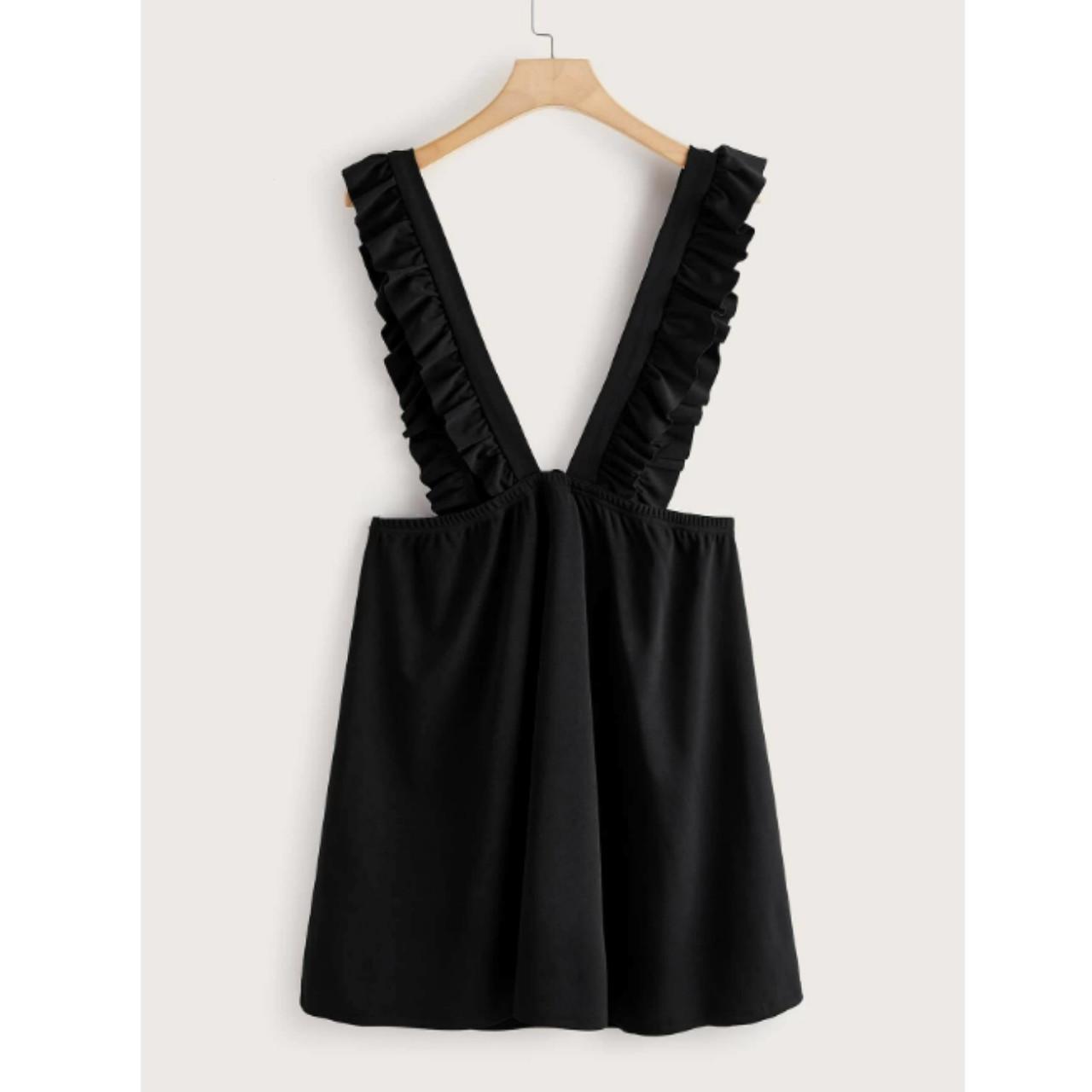 Plus ruffle strap suspender dress 2xl