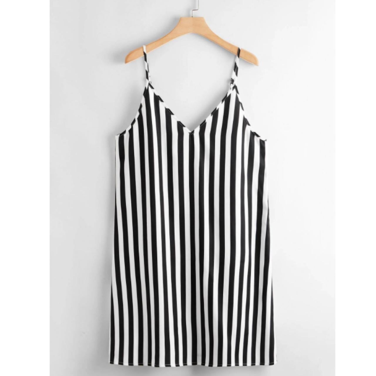 Plus two tone striped slip dress 3xl