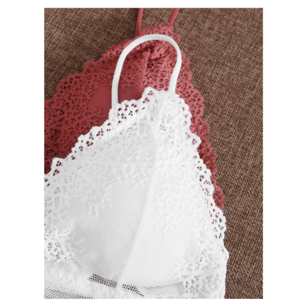2pack floral lace bra set m