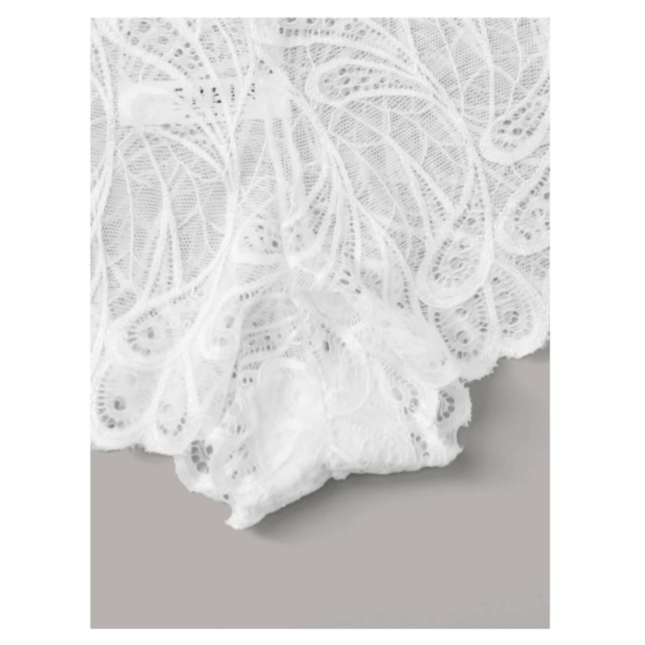 4pack floral lace panty set l