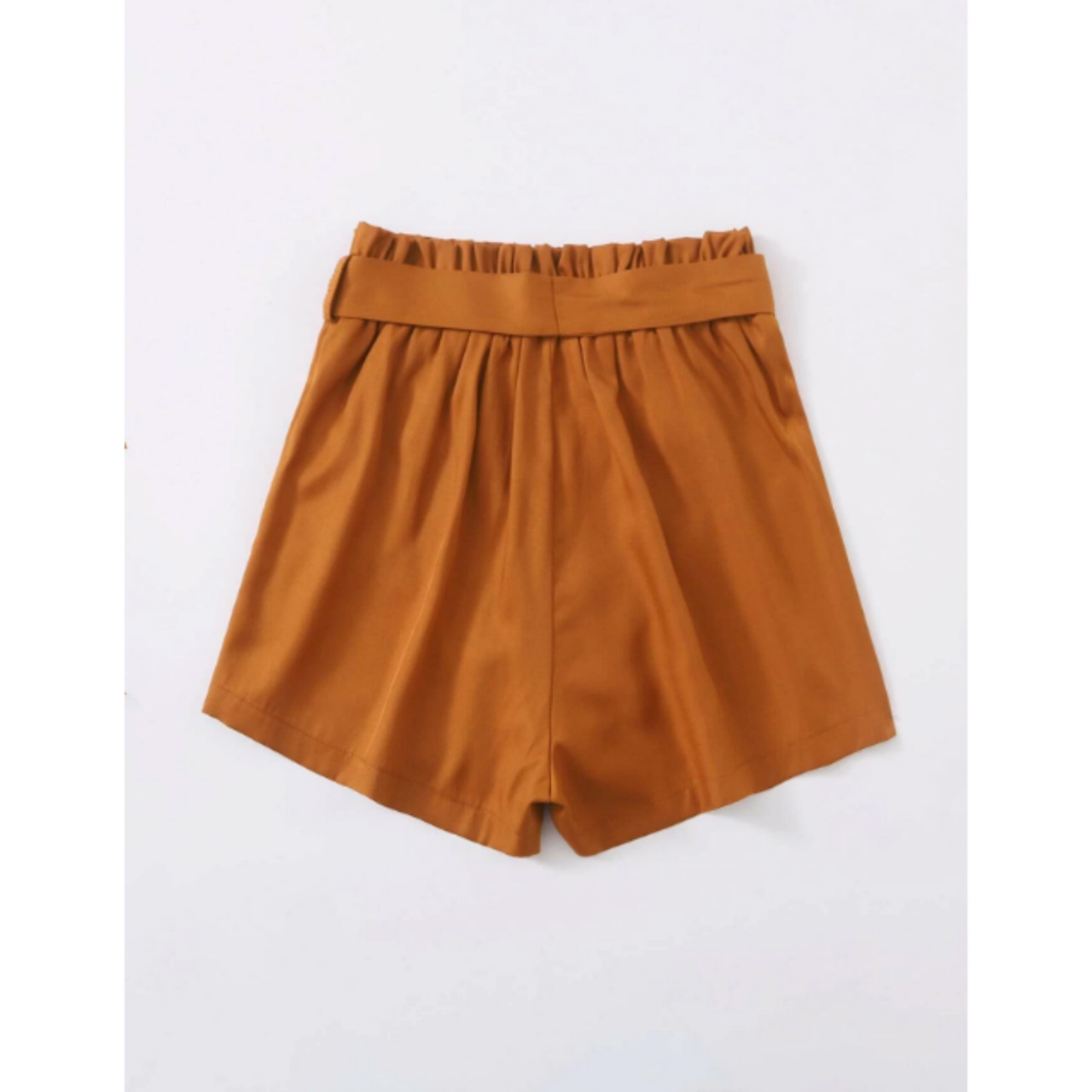 Self tie paperbag waist shorts m