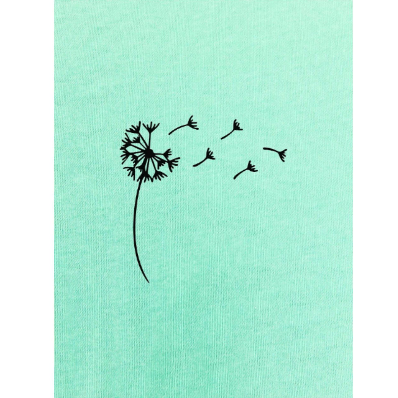 Dandelion print round neck tee xl