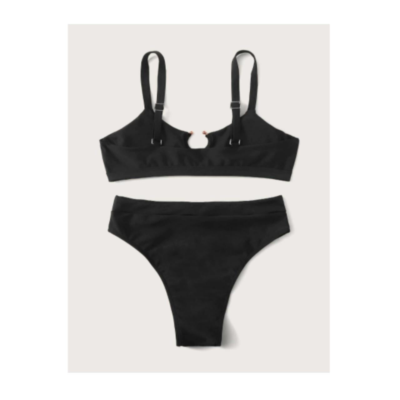 Adjustable strap high waisted bikini swimsuit m