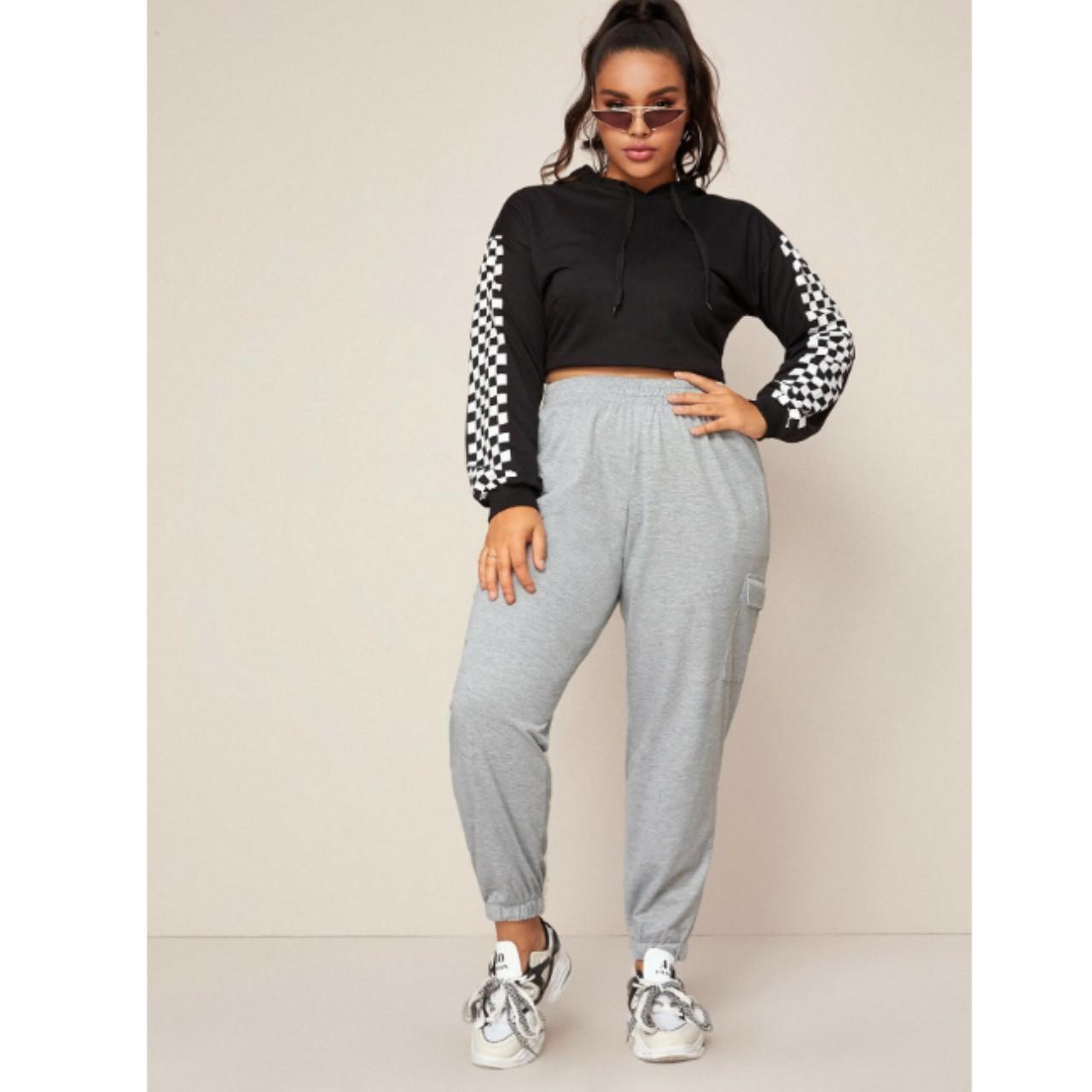 Flap pocket elastic waist sweatpants 2xl