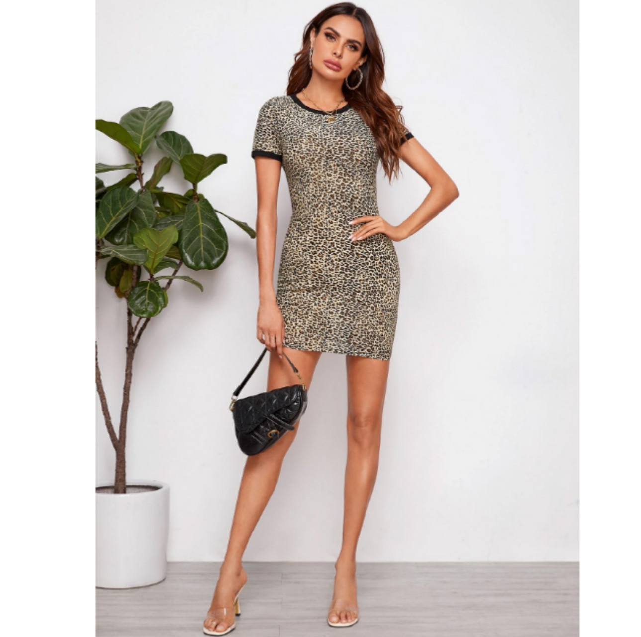 Leopard print ringer dress xl