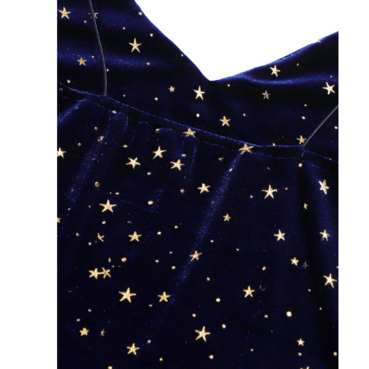 Galaxy print split cami dress s